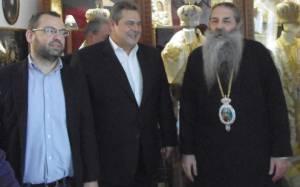 Με τον Π. Καμμένο στον μητροπολίτη Πειραιώς ο Γ. Χρηστοφορίδης