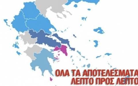 Αποτελέσματα εκλογών 2015 Β' Αθήνας