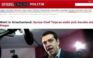 Αποτελέσματα εκλογών 2015: Πρώτο θέμα ο Αλέξης Τσίπρας και στο γερμανικό «Spiegel»