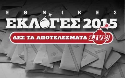 Αποτελέσματα εκλογών 2015 στο 16,95 της Επικράτειας