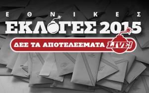 Αποτελέσματα εκλογών 2015 στο 24,77 της εκλογικής περιφέρειας Δωδεκανήσου
