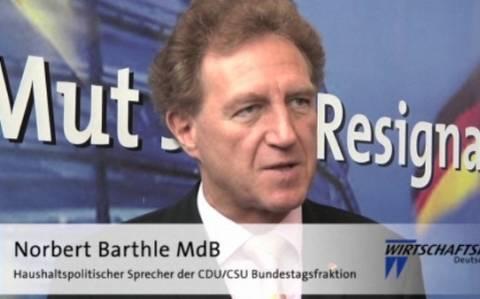 Εκλογές 2015: «Όχι» στο κούρεμα του χρέους λέει το CDU
