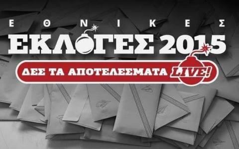 Αποτελέσματα εκλογών 2015 στο 100% της Επικράτειας