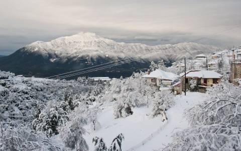 Χιόνια στα ορεινά χωριά των Ιωαννίνων