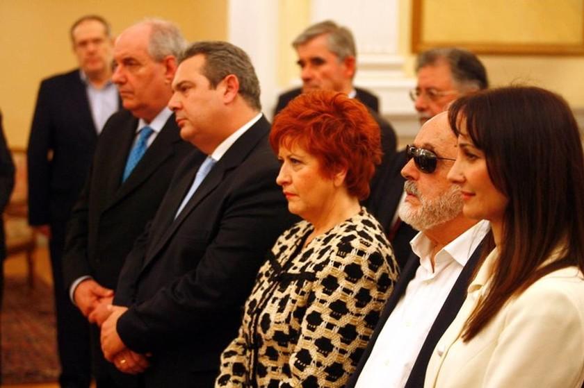 Η τελετή ορκωμοσίας της νέας κυβέρνησης μέσα από το φακό