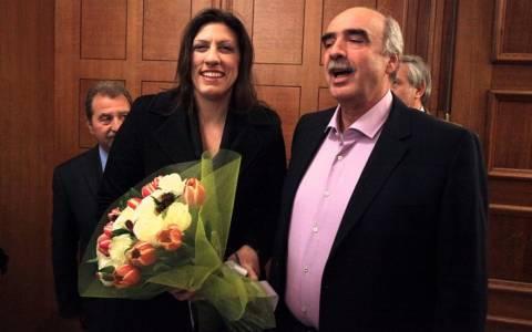 Συνάντηση Μεϊμαράκη-Κωνσταντοπούλου: Τα λουλούδια στην κυρία…