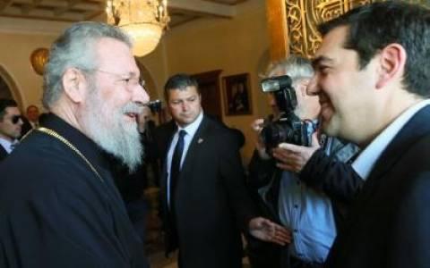 Κύπρος: Συνάντηση Τσίπρα με τον Αρχιεπίσκοπο Χρυσόστομο