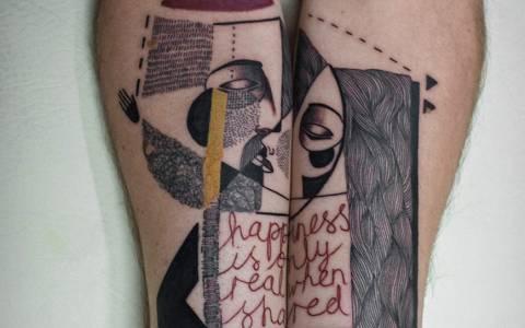 Τατουάζ εμπνευσμένα από τον Κυβισμό  (photos)