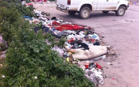 Σκουπιδότοπος στο κέντρο του Ηρακλείου