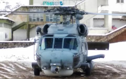 Ελικόπτερο Super Puma πάει στα Άγραφα (video&photos)