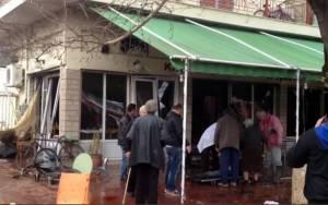 Έρευνες για τα αίτια της έκρηξης σε καφενείο στο Λουτρό Αμφιλοχίας