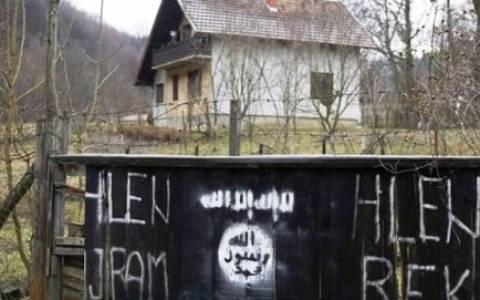 Βοσνία-Ερζεγοβίνη: Σημαία και σύμβολα του Ισλαμικού Κράτους (photos)