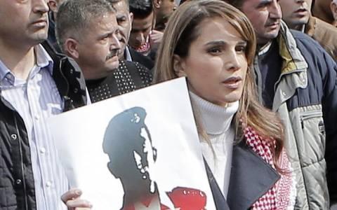 Ιορδανία: Ογκώδης πορεία στη μνήμη του πιλότου – Παρούσα η βασίλισσα Ράνια