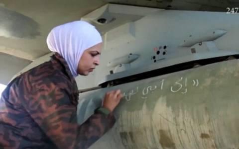 Μηνύματα πένθους και οργής στους πυραύλους των ιορδανικών F-16 (video & pics)