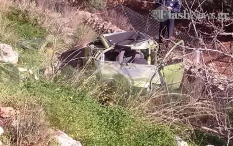 Βουτιά αυτοκινήτου σε χαντάκι – Δύο ελαφρά τραυματίες