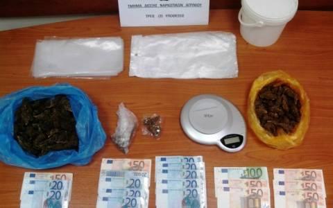 Τρεις συλλήψεις στο Αγρίνιο για κατοχή και διακίνηση ναρκωτικών
