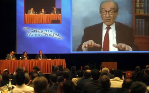 Α. Γκρίνσπαν: Αναπόφευκτη η έξοδος της Ελλάδας από το ευρώ
