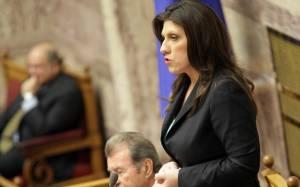Ζ. Κωνσταντοπούλου: Αυστηρό μήνυμα για την τήρηση της νομιμότητας στη Βουλή