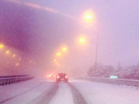 Κακοκαιρία: Άσπρισε ο τόπος, από τη σφοδρή χιονόπτωση  στην Τρίπολη (pics)