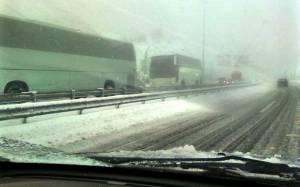 Μπλακ άουτ στον Άγιο Στέφανο – Σφοδρή χιονόπτωση στην Αθηνών - Λαμίας