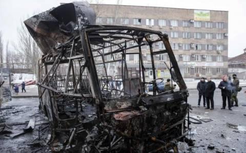 Ουκρανία: Τέσσερις νεκροί από οβίδα στο κέντρο του Ντόνετσκ