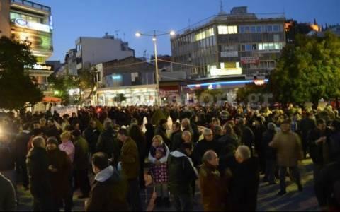 Μήνυμα συμπαράστασης στην κυβέρνηση και από τη Λαμία (photos)