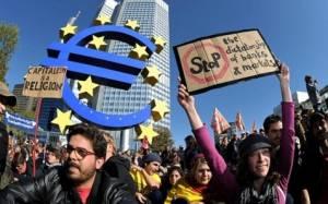Το Blockupy στηρίζει Ελλάδα «αναστατώνοντας» τα εγκαίνια της έδρας της ΕΚΤ