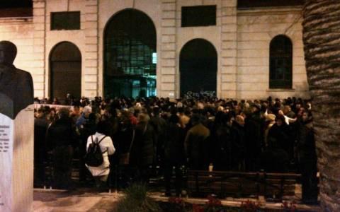 Συγκέντρωση υπέρ των θέσεων της ελληνικής κυβέρνησης στην Κρήτη