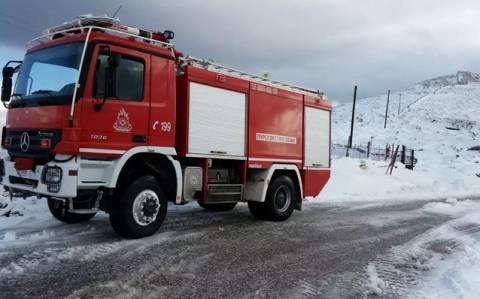 Χανιά: Μεταφορά ασθενούς με την Πυροσβεστική λόγω αποκλεισμού