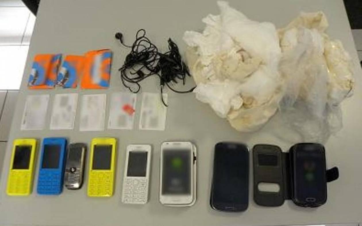 Επιχείρησαν να πετάξουν κινητά τηλέφωνα σε προαύλιο φυλακής