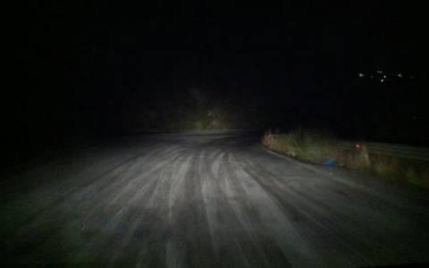 Παγωμένοι οι δρόμοι στα ορεινά και ημιορεινά των Χανίων
