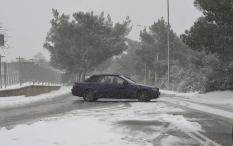 Αποκαταστάθηκε η κυκλοφορία στην Πάρνηθα
