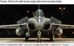 Η Αίγυπτος θα αγοράσει 24 γαλλικά μαχητικά Rafale