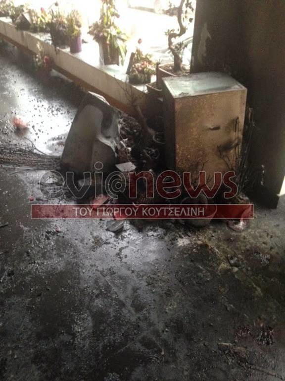 Χαλκίδα: Κάηκε ανθοπωλείο ανήμερα του Αγίου Βαλεντίνου
