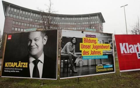 Αμβούργο: Νίκη SPD, απώλειες CDU και άνοδο των ευρωσκεπτικιστών δείχνουν τα exit poll