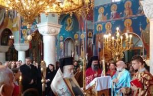 Λιτανεία εικόνας Αγίου Παϊσίου στην Ι.Μ. Γλυφάδας