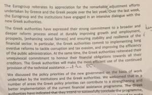 Eurogroup: Αυτό είναι το κείμενο που απέρριψε η ελληνική πλευρά (photos)