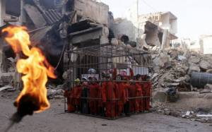 Σοκαριστική αναπαράσταση της εκτέλεσης του Ιορδανού πιλότου (photos+video)