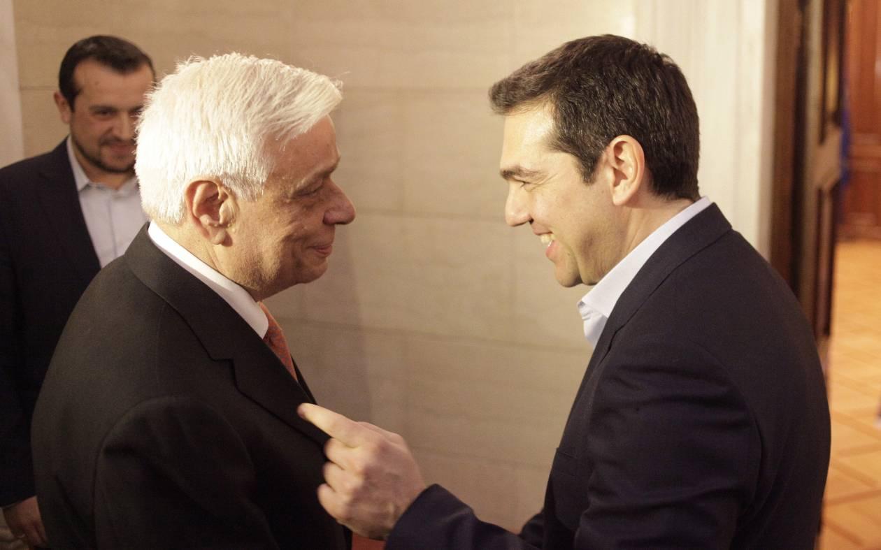 Τσίπρας: Θέλουμε ενότητα και υπευθυνότητα – Παυλόπουλος: Να βγει ο τόπος από το τέλμα