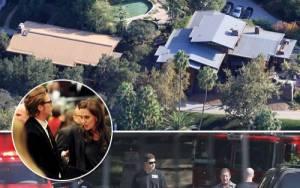 Πυροσβεστικά & ασθενοφόρο στην έπαυλη της Angelina Jolie και του Brad Pitt