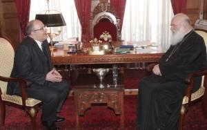 Συνάντηση αναπληρωτή Υπουργού Πολιτισμού με Αρχιεπίσκοπο Ιερώνυμο