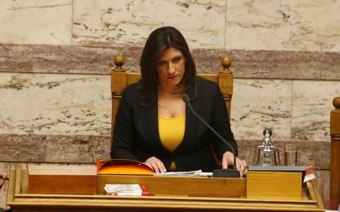 Κωνσταντοπούλου: Ατάκα…καρφί για τους απόντες βουλευτές