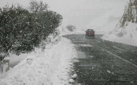 Χανιά: Παγετός και κλειστοί δρόμοι στα ορεινά του νομού