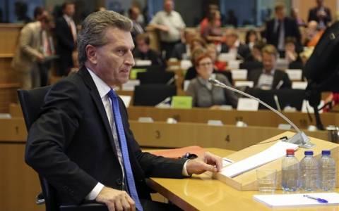 Έτινγκερ: Συμφωνία τις επόμενες 8 ημέρες, πιθανή μια ακόμη Σύνοδος Κορυφής
