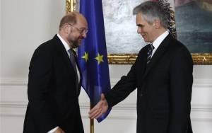 Μ. Σουλτς - Β. Φάιμαν: Ζήτημα σεβασμού μια ευκαιρία στην Ελλάδα