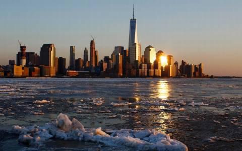 Πάγωσε ο ποταμός Χάντσον στη Νέα Υόρκη (photos)