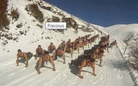 Εντυπωσιακές εικόνες από τη χειμερινή διαβίωση ανερχόμενων Υπαξιωματικών
