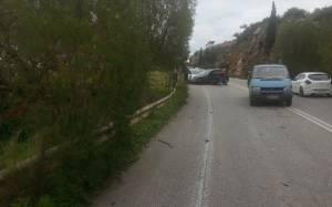 Καραμπόλα στην εθνική οδό Χανίων - Ρεθύμνου (photos)