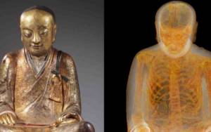 Ολλανδία: Ανακάλυψαν μούμια μέσα σε άγαλμα του Βούδα!