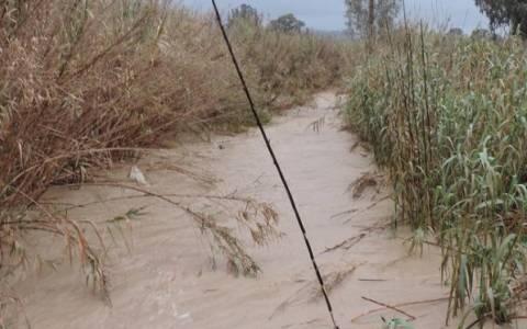 Κρήτη: Υπερχείλισε ο Αναποδάρης ποταμός (video)